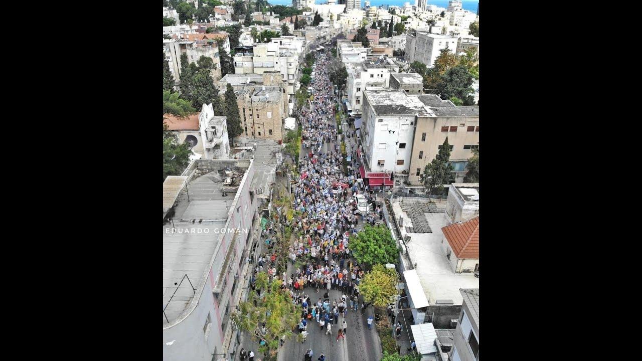 Израиль встречает День Победы. Хайфа.